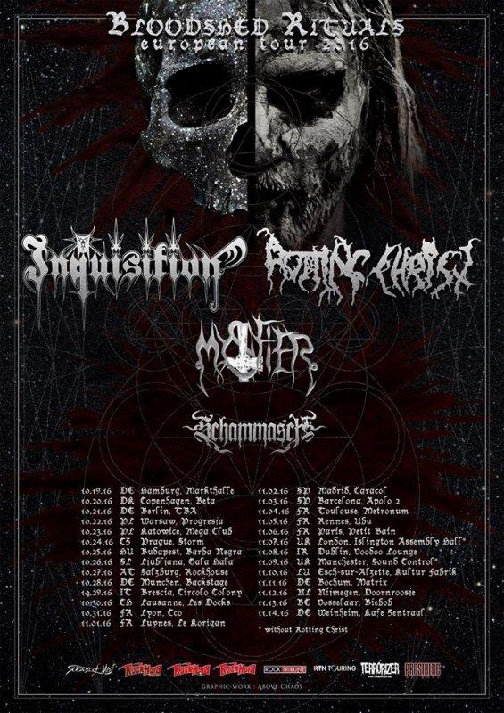 INQUISITION, ROTTING CHRIST, MYSTIFIER et SCHAMMASCH en tournée européenne