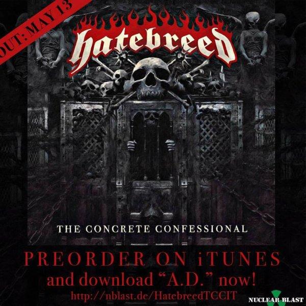 HATEBREED :The Concrete Confessional-nouvel album 13/5/16)