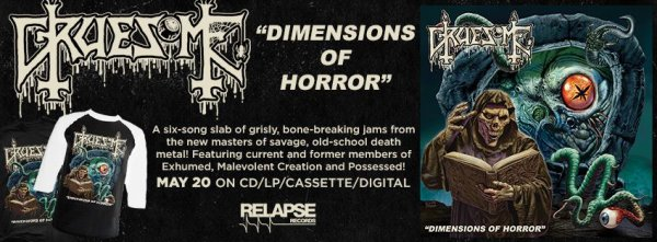 GRUESOME -Dimensions of Horror-nouvel EP (20/516)