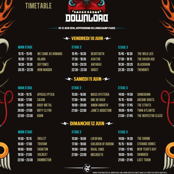 NEWZ: Download Festival France  (Hippodrome de Longchamp)