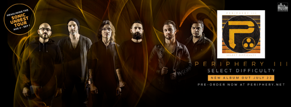 "PERIPHERY:""Periphery III: Select Difficulty""-nouvel album(22/7/16) clip vido  VII/XVI"