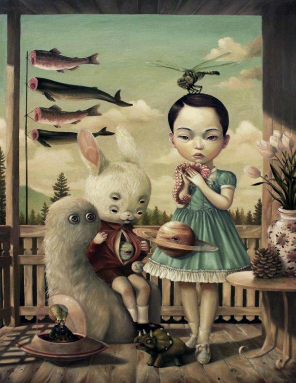 Etranges peintures surréalistes