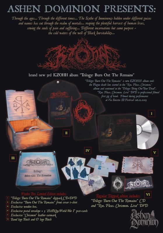 KZOHH:Trilogy: Burn Out The Remains -nouvel album (30/9/16) IX/XVI