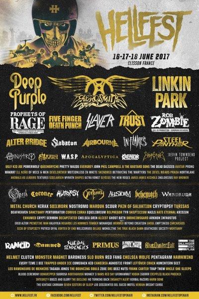 L'affiche du Hellfest 2017