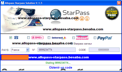generateur de code starpass 2013