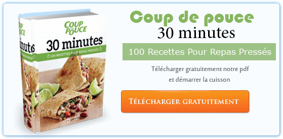 Télécharger Gratuit Coup de pouce 30 minutes : 100 recettes pour repas press