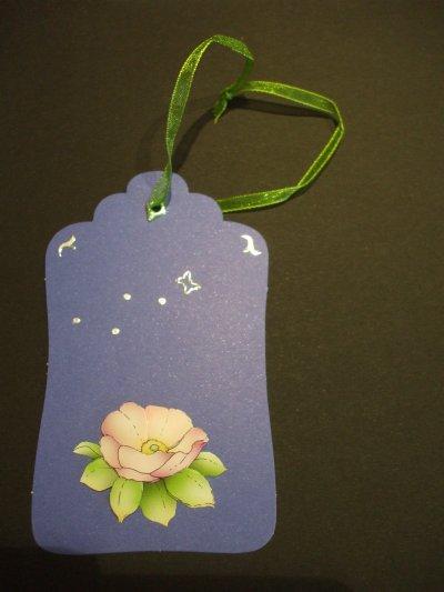 marque page etiquette fleur