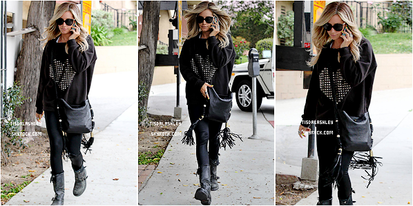* 25/04/12 ▬ Ashley sortant du salon de coiffure « Andy Lecompte » à West Hollywood.   *