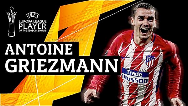 ▬Antoine Griezmann à été élu meilleur joueur de l'Europa League devant Dimitri Payet et Diego Godin.