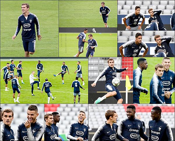 5 septembre 2018: ▬Les Bleus effectuaient un dernier entrainement au stade de l'Allianz Arena. Pour le premier match depuis la finale de la CDM, la France affrontera l'ancien champion du monde, l'Allemagne en ligue des Nations.