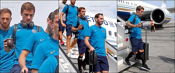 17 septembre 2018: ▬Antoine Griezmann et ses coéquipiers de l'Atletico Madrid arrivaient à Monaco. Demain aura lieu la première journée de ligue des Champions. Je vais voir le match, et donc voir Antoine pour la toute première fois, j'ai hâte !