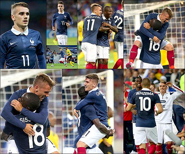 8 Juin 2014: ▬La France affrontait la Jamaïque pour le dernier match de préparation à la CDM. (8-0) Les Bleus gagnent facilement. Antoine, Karim et Blaise s'offrent un doublé chacun. O. Giroud et Y. Cabaye sont les autres buteurs.