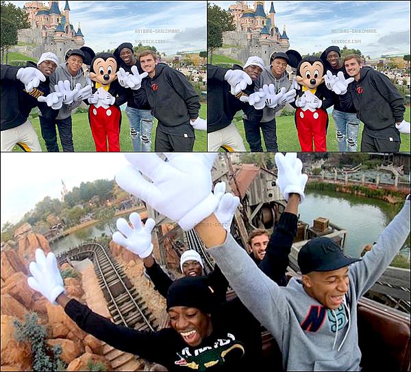 12 octobre 2018: ▬Antoine, Paul, Kylian et Ousmane ont tous les 4 passé la journée à Disneyland Paris. En effet, les bleus ont pu, si ils le souhaitaient quitter le groupe le temps d'une après-midi de repos. Retour aux entrainement demain.