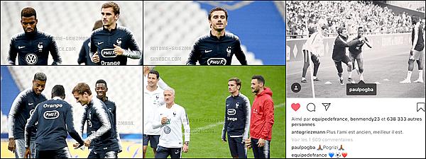 15 octobre 2018: ▬Les Bleus effectuaient un entrainement au stade de France avant d'affronter l'Allemagne.