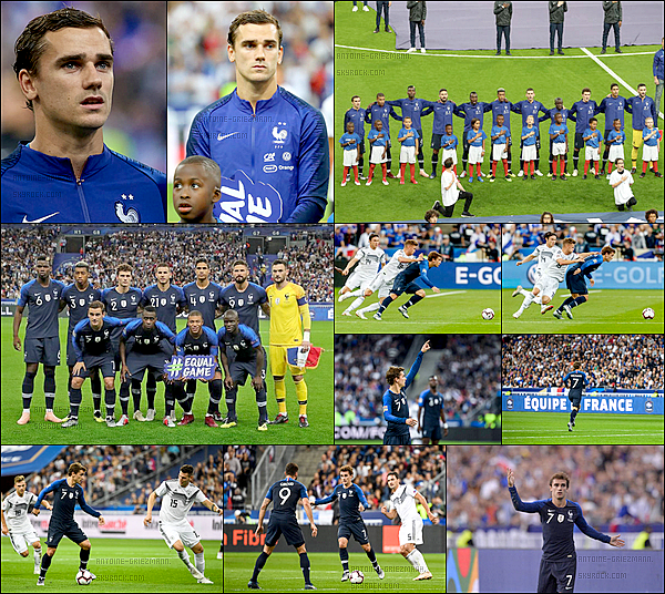 16 octobre 2018: ▬L'Equipe de France affrontait l'Allemagne en Ligue des Nations au stade de France. (2-1) La France s'impose face à l'Allemagne. AntoineGriezmann, d'un doublé, a donné un nouveau succès aux Bleus face à la Mannschaft ( 62', 80'sp. )