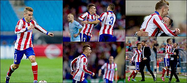 22 Octobre 2014: ▬L'Atletico Madrid le Malmö FF en match de Ligue des Champions au EVCalderón.(5-0) C'est une victoire écrasante des Colchoneros avec les buts de Koke ( 48' ), Mandzukic ( 61' ), A. Griezmann ( 63' ), D. Godin et A. Cerci ( 90' ).