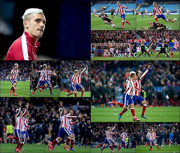 17 Mars 2015: ▬L'Atletico Madrid affrontait le Leverkusen en 8è de finale de Ligue des Champions. (1-1) Au terme d'une séance de tirs au but, le cumul des scores est de 3-2. L'Atletico se qualifie pour les quart de finale de la Ligue des champions.