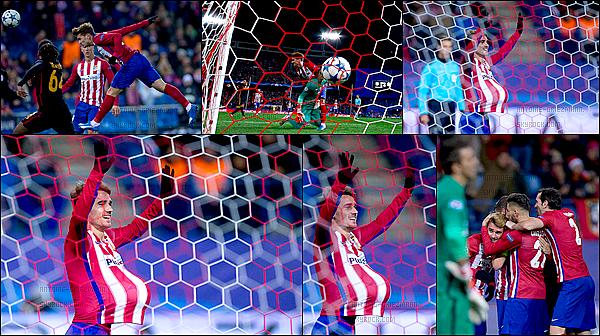 25 Novembre 2015: ▬L'Atletico Madrid affrontait Galatasaraypour la 5e journée de poules de LDC. (2-0) L'Atletico se qualifie pour les 8ès de finale de la Ligue des champions. Antoine a donné la victoire aux Colchoneros en inscrivant un doublé.