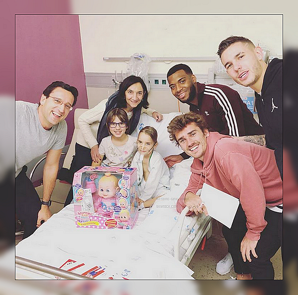 2 Janvier 2019: ▬Antoine, Thomas et Lucas ont rendu visite a une enfant dans un hôpitalde Madrid.