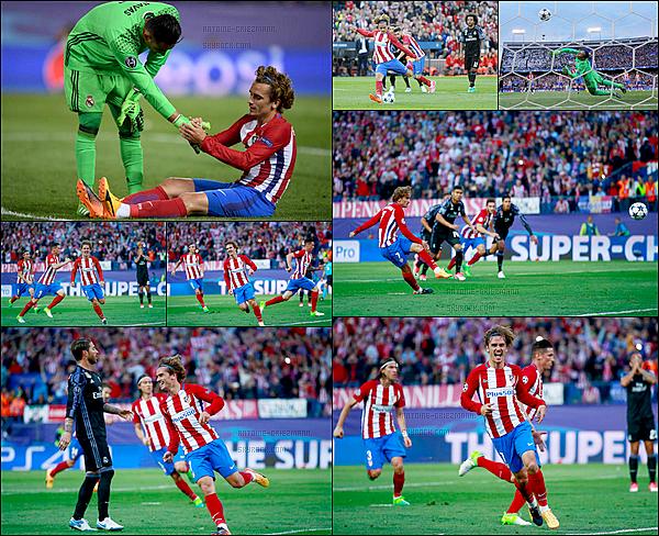10 Mai 2017: ▬L'Atletico Madrid recevait le Real Madrid en match retour de demi-finale de la LDC. (2-1) L'Atletico s'impose 2-1 face à son voisin dans cette demi-finale retour mais ce n'est pas suffisant. Buts : Saúl ( 12' ) et A. Griezmann ( 16' sp ).