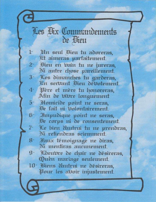 La verite qui est droite integre toujours les dix commandements deuteronome 5 1 22 ecoute - Les tables des 10 commandements ...