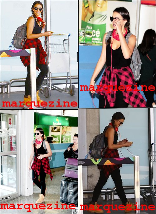 Le 02/09/14, notre brésilienne a été apperçu à l'Aéroport à Rio                        j'aime bien sa tenue, elle est décontractée, souriante,  c'est un top pour moi ! et toi ? :)