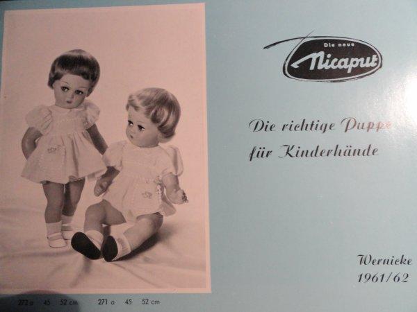 catalogue 1961/62: les poupées Nicaput -Wernicke