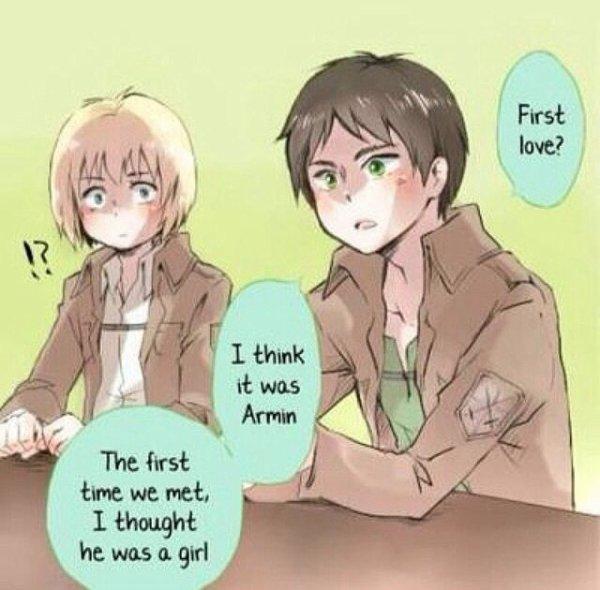 Premier amour d'Eren ? Armin x)
