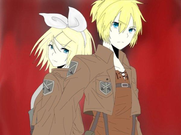 Rin et Len version AOT