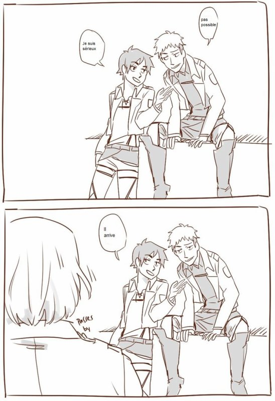 doujin : Armin ne sait pas juré ( dans le sens dire de gros mots )