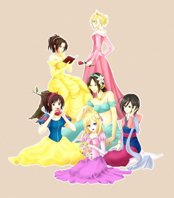 Shingeki no Princesses Disney
