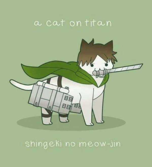 A cat on titan / Shingeki no meow-jin