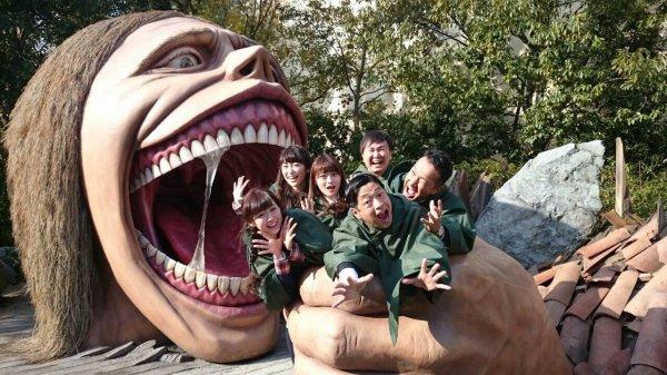 Attraction Shingeki no Kyojin , Universal Studio Japon