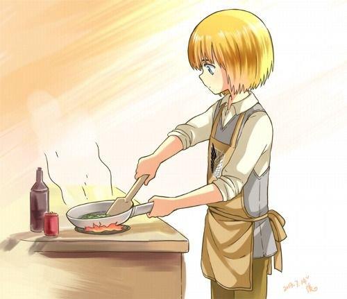 Armin fait la cuisine