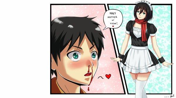 Eren et Mikasa sont des pervers