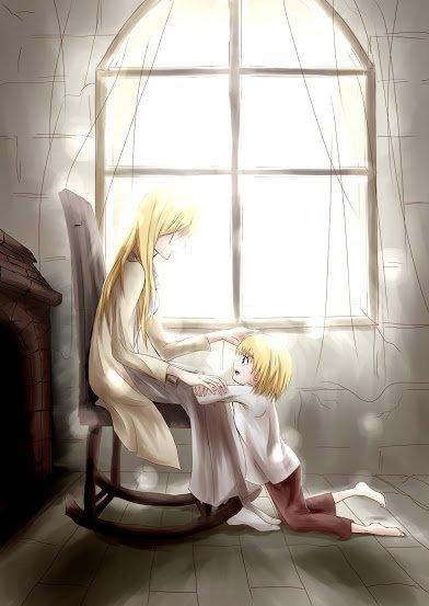 Armin avec sa mère et son grand-père