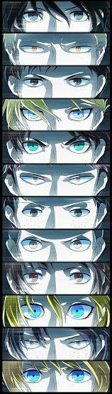 Les yeux des persos de SnK *^*