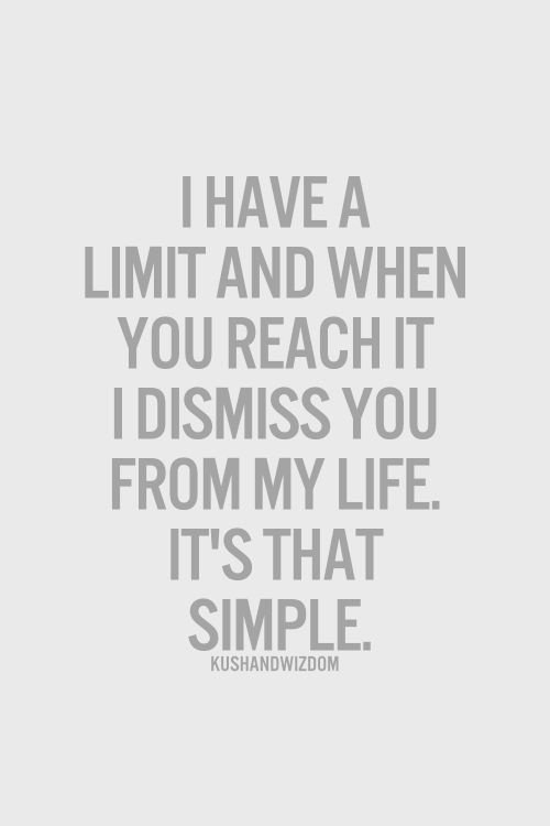il y a des limites à ne pas dépasser