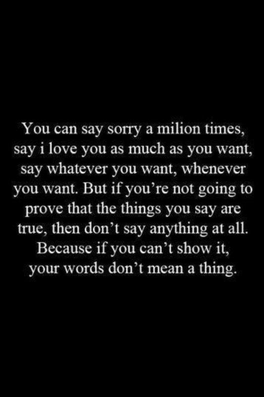 الأفعال تثبت دائماً أن الكلام لا يعني شيئاً