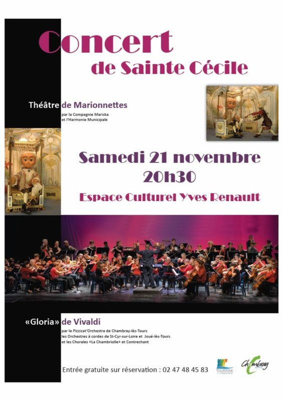 Concert de la Sainte Cécile  - Samedi 21 novembre 2015 - 20 h 30 - Espace culturel Yves Renault