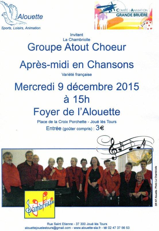 """Groupe """"Atout Choeur"""" au foyer de l'Alouette..."""