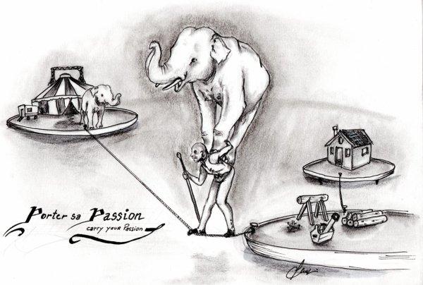 Porter sa passion du cirque !
