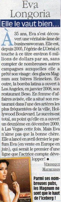 Eva Longoria et la pub