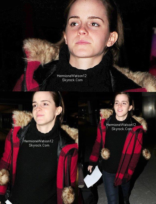 Emma à Heathrow