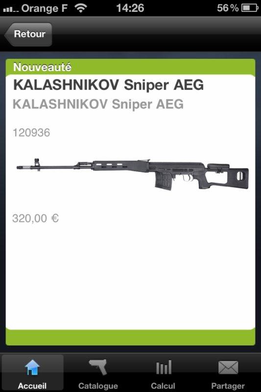 Nouveau sniper Kalashnikov AEG (Dragunov)