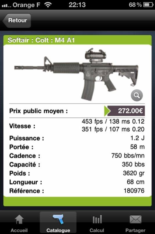 La voici,ma M4 A1 AEG 1,2j