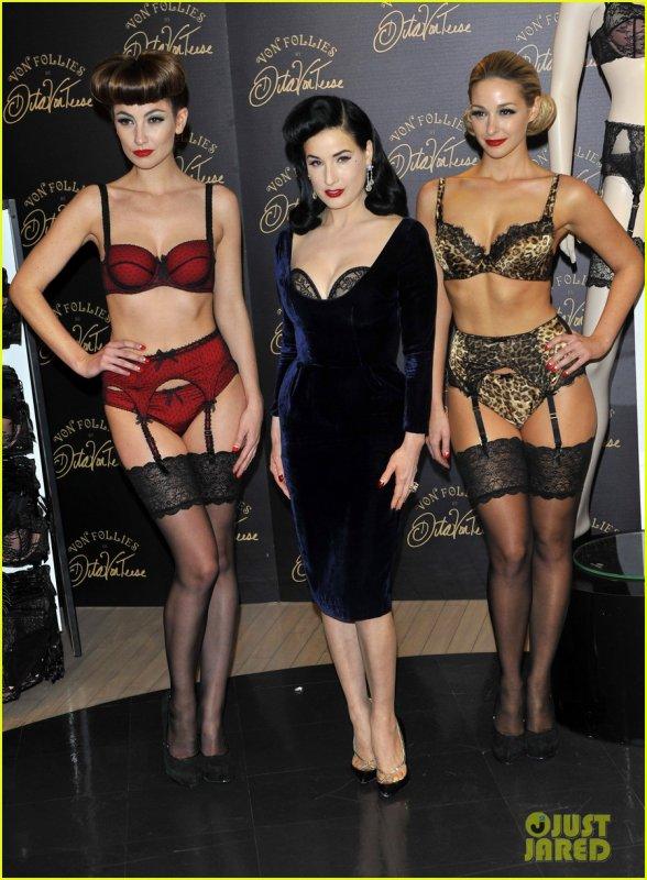 A Londre pour la présentation de sa lingerie Von Follie