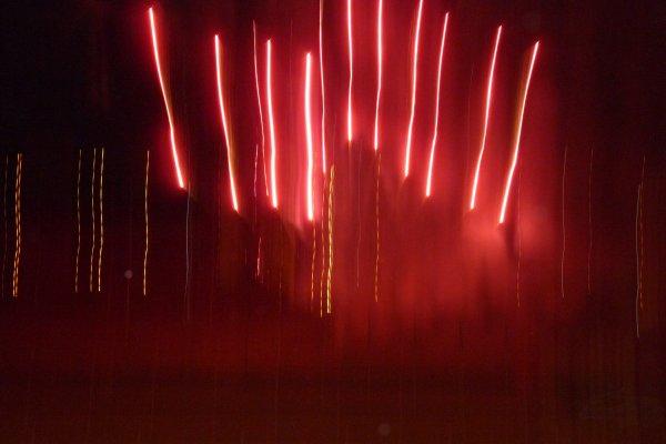 Feu d'artifice Pont de Vivaux le 3 juillet 2105