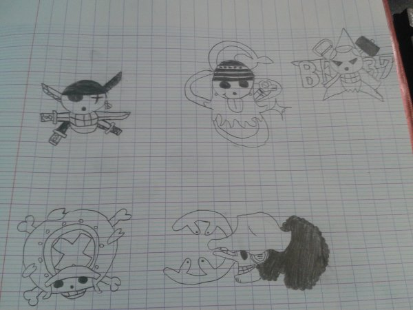 Dessins faits pendant le stage xD