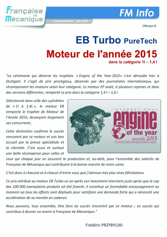 3 cylindres turbo PureTech